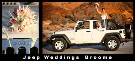 Jeep Weddings Broome, Kimberley Weddings